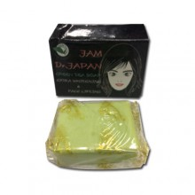JAM DR JAPAN Green Tea Extra Skin Whitening Cleanser and Face Lift Soap 70g./2.5oz.