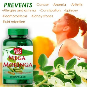 Mega Moringa Dietary Supplement 90 Caps