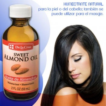 De la Cruz Sweet Almond Oil 2 FL OZ (59 ml)