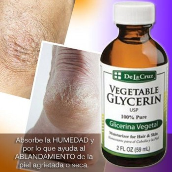 De la cruz Vegetable Glycerin 2 FL OZ (59 ml)