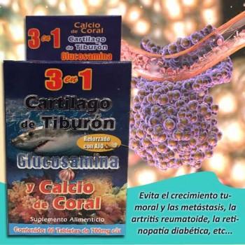 3 in 1 Shark cartilage 60 tablets 700 mg