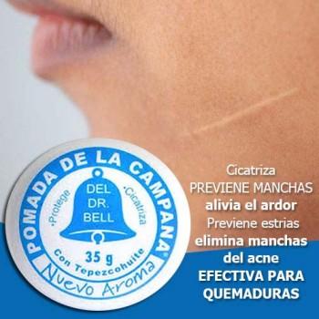 Dr. Bells Pomade Pomada De La Campana with tepezcohuite 1.23 Oz 35g