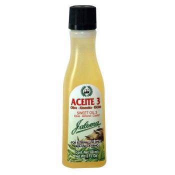 Jaloma oil 3 Olive-Almond Sweet-Castor 4 Oz