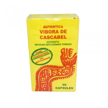 Authentic Mexican Rattlesnake Powder 50 Capsules