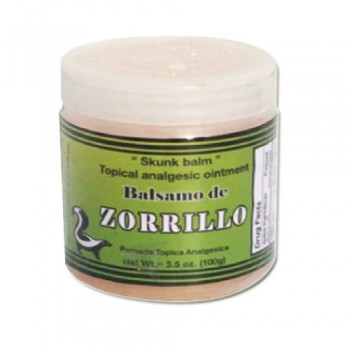 Balsamo de Zorrillo - Topical Analgesic Ointment 3.5Oz (100g)