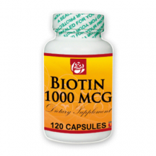Biotin 1000 MCG Dietary Supplement 120 Caps