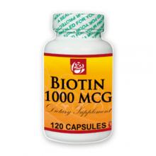 Biotin 1000 MCG Dietary Supplement 120 Caps