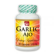 Garlic Ajo Dietary Supplement  30 Cpas 510 mg