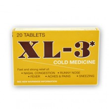XL-3 Cold Medicine 20 Tablets