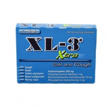 XL-3 Xtra Cold And Cough Capsules, 12 Softgels